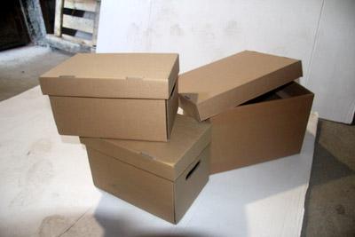 Картонные коробки с крышкой