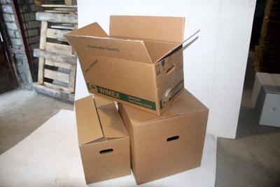 Картонные коробки с ручками